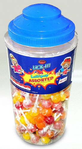 LICK04 LICK-IT ASSORTED Lolly 150x7g